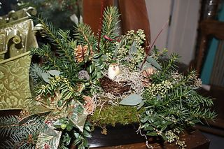 Christmas Floral Designs, On A Whim Antiques, Holiday Decor, Christmas Greens, Lucketts