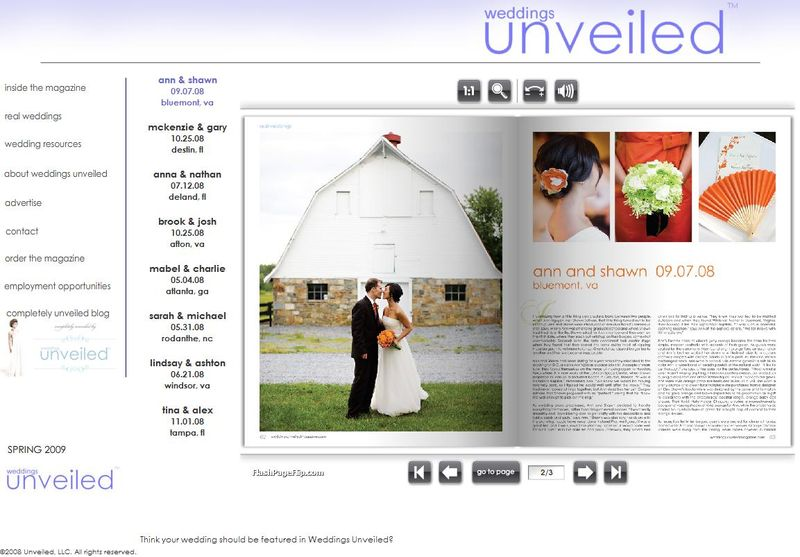 Weddings Unveiled Magazine, Holly Chapple Flowers, Whitehall Manor