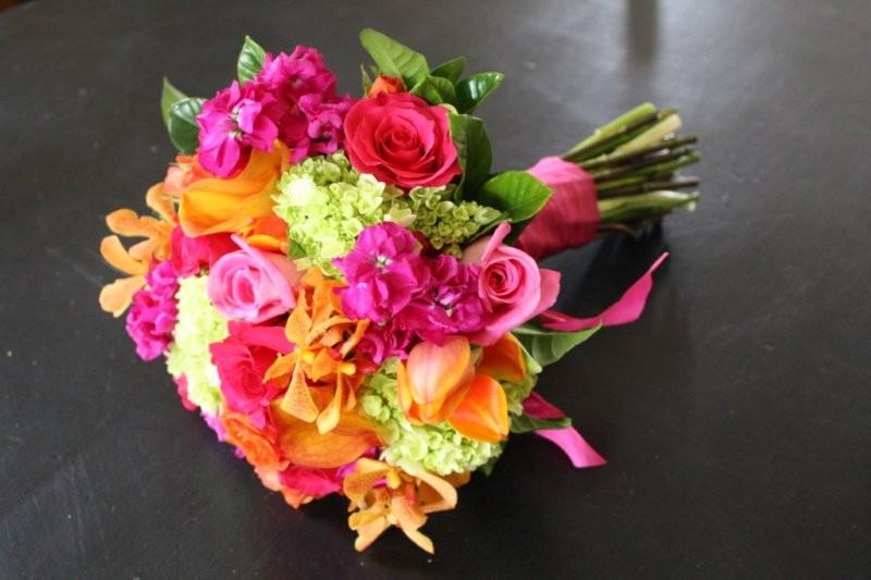 Orange roses green cymbidium orchids hot pink roses green cymbidium orchids orange roses orange mini callas deep pink and medium pink roses mightylinksfo Gallery