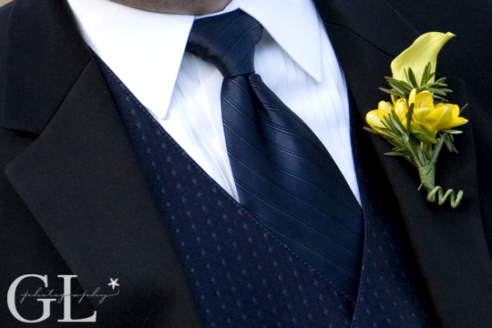 Freesia, Calla Lily, Boutonniere, Genevieve Leiper Photography