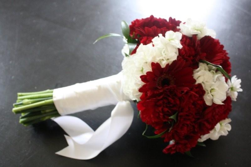 06 14 2009 Burgundy Carnation Bouquet Wedding Number 2
