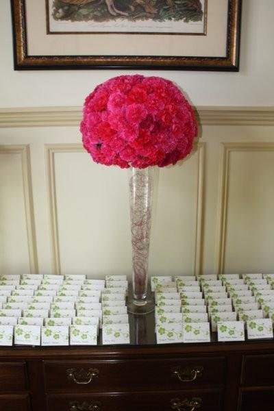 Green Ivory Orange Pink Centerpiece Centerpieces Indoor Reception Wedding