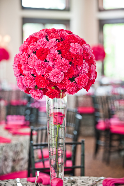 Red Carnation Centerpiece : Ashley nathan whitehall manor loudoun weddings