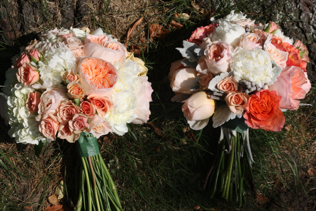 Bridal Bouquets With Cabbage Roses : Peach juliet cabbage roses holly chapple