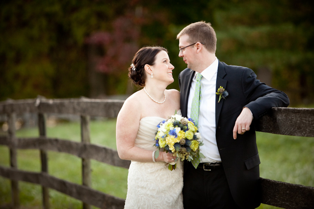 Blue Green and White Wedding Flowers Bluemont Vineyard Loudoun