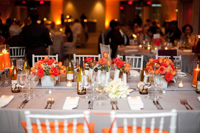 Orange white grey wedding flowers newseum holly chapple holly facebook mightylinksfo