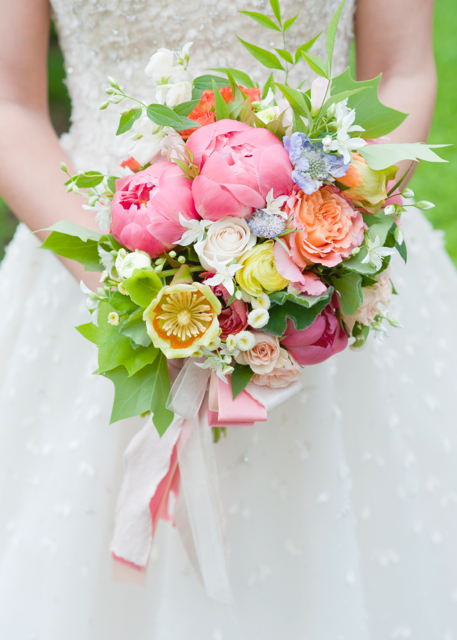 Holly Heider Chapple flowers, tulip poplar flower, tulip poplar flower bouquet, wedding bouquet, coral peony, free spirit roses,