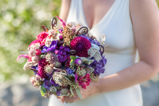 purple dahlias, wedding flowers, bridal bouquet, cobra lily, swamp lily, skyline drive