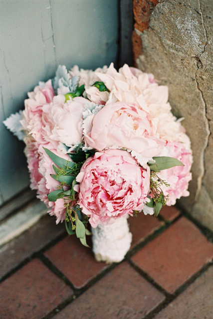 Pink peony bridal bouquet, cafe au lait bridal bouquet, Holly Chapple flowers