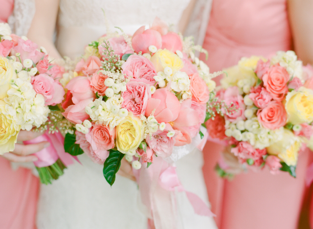 Sally and Andrew - Loudoun Weddings - Coral and Yellow - Holly ...