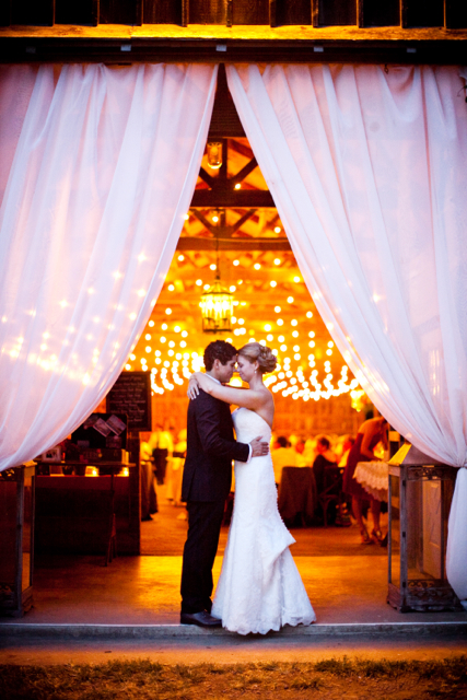 wedding drapes and lighting