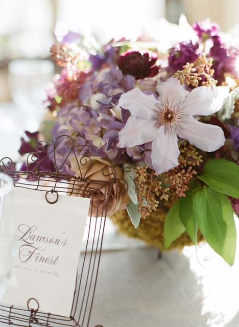 loudoun wedding florist, whitehall wedding florist, lavender wedding flowers