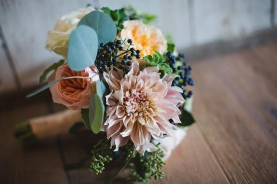 pink navy bridal bouquet Red Poppy Floral Design Chapel Designer