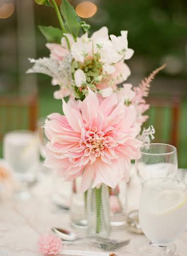 pink dahlia centerpiece Passion Flowers Design Chapel Designer