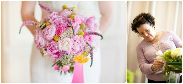 Pink bridal peonies katelyn james photography
